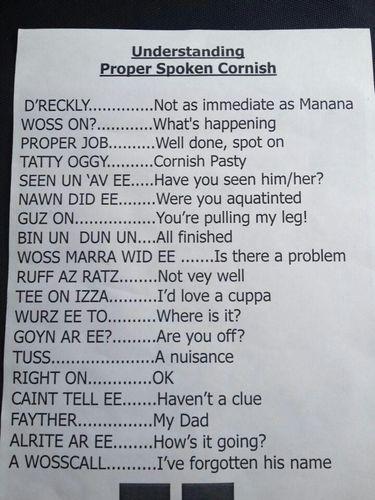 Cornish vernacular - translated?!...